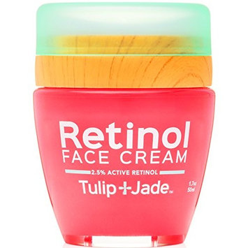 Retinol Face Cream Tulip and Jade - 2.5% Strength without a Prescription - Organic & Vegan