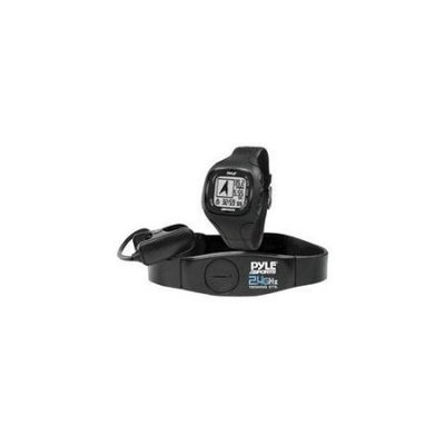 Pyle PSWGP405BK GPS Watch with Heart Rate Navigation Speed & Distance - Black