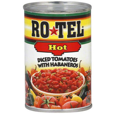 Ro-Tel Hot Diced Tomatoes with Habaneros, 10 oz, (Pack of 12)