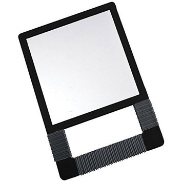 Icarus Black Unbreakable Mirror With Rubber Grip