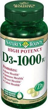 Nature's Bounty VITAMIN D, SGEL 1000IU (100/BT)