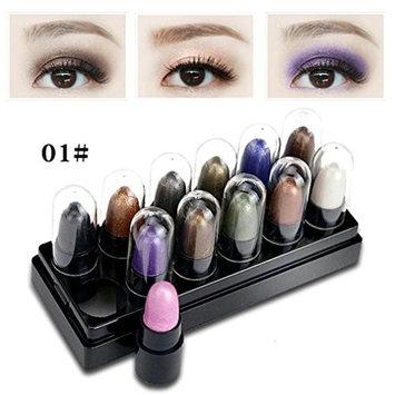 DZT1968 Women 1 box 12pcs Portable Makeup Eyeshadow Shimmer Matt Stick Sets Waterproof Cosmetics
