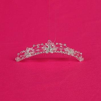 Girls Silver Rhinestones Precious Special Occasion Comb