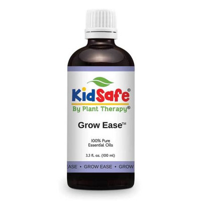 KidSafe Growing Pains Synergy Essential Oil Blend 100 ml (3.3 oz). 100% Pure, Undiluted, Therapeutic Grade. (Blend of: Juniper Berry, Rosalina, Spruce, Turmeric and Tansy Blue.)