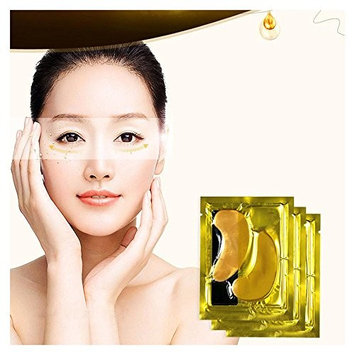 FTXJ 5PCS Moisturizing Beauty Gold Collagen Crystal Eye Mask Eye Zone Pad