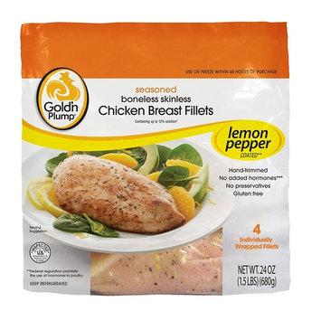 Gold'n Plump, Seasoned Boneless Skinless Chicken Breast Fillets - Lemon Pepper, 24oz