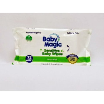 Us Nonwovens Baby Magic Sensitive Unscented Baby Wipes (72-count)
