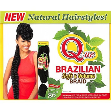 Shake-N-GO Que Brazilian Soft & Volume Braid (1B) by Que Products