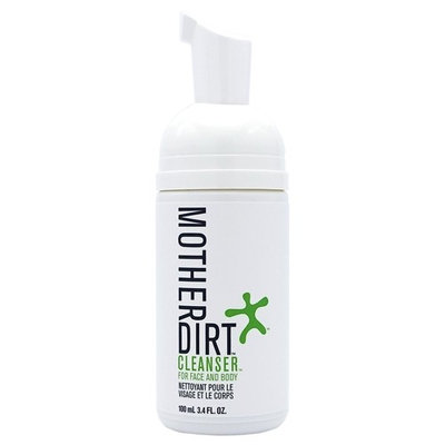 Mother Dirt Biome-Friendly Face & Body Cleanser, Preservative-Free, Natural Skin Care, 3.4 fl oz
