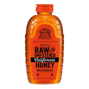 Nature Nate's 100% Pure Raw & Unfiltered California Honey; 32-oz. Squeeze Bottle; Certified Gluten Free and OU Kosher Certified; Made by California Bees, Enjoy Honey's Balanced Flavors and Goodness
