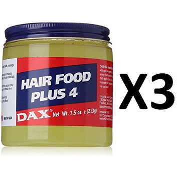 [VALUE PACK OF 3] DAX HAIR FOOD PLUS 4-7.5oz promote healthier hair and scalp : Beauty