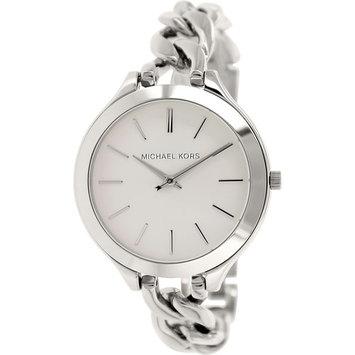 Slim Runway White Dial Ladies Watch MK3279