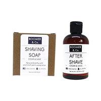 Viane Beaute Cedar & Sage Shaving Kit Set Organic Natural [texas cedarwood and sage scents]