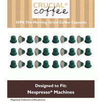Crucial Coffee 30 High Performance Coffee Capsules for Use in Most Nespresso Machines, The Morning Grind