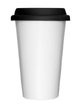 Sagaform Takeaway Porcelain Mug - White (8.5 oz.)
