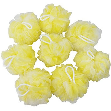 Ggbin Large Bath Sponges Shower, Pack of 8 (yellow)