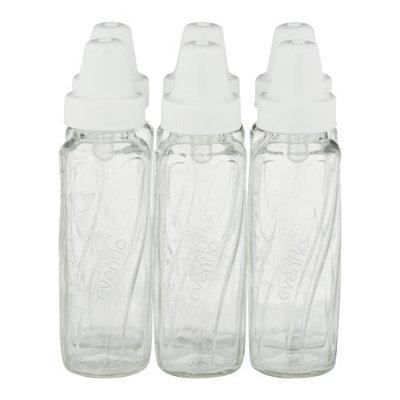 Evenflo 8oz Twist Glass Bottle Set - 6pk, Clear