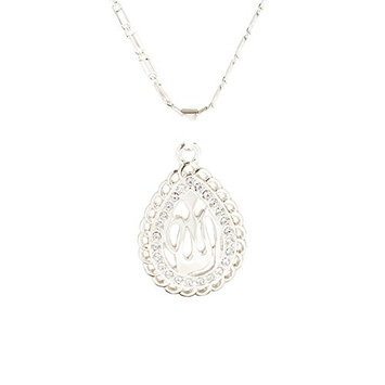 Allah Necklace Crystal Pendant Muslim Charms Choker Necklace Religious Ramadan Jewelry