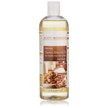 Body Wonders Sweet Almond Oil16 Fl Oz Cold-pressedHexane Free Supports Healthy Hair & Skin