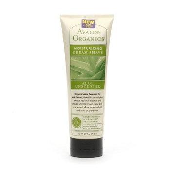 Avalon Organics Cream Shave, Aloe Unscented, 8 Ounce [Aloe Unscented]