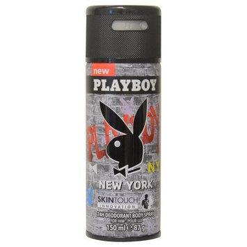 Playboy New York Men's 24H Deodorant 5-ounce Body Spray