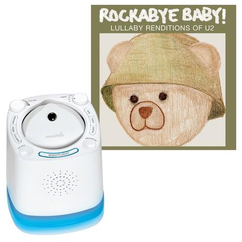 Munchkin Nursery Sound Projector with Rockabye Baby Lullaby Renditions, U2