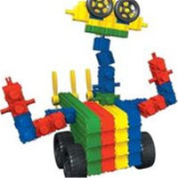SNAPO 16A150BL 150 Piece Robot World Building Blocks Primary Colors