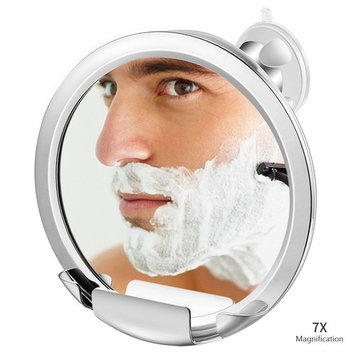 Jerrybox Fogless Mirror with Built-in Razor Holder, Fog-Free Bathroom Shaving Mirror with Powerful Locking Suction, 360 Degree Rotating Adjustable Arm for Easy Viewing, Guaranteed Not to Fog