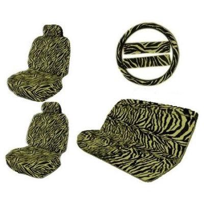 Lavohome Tan Tiger Animal Print Safari Stripes Caories Interior Combo Kit Gift Set - 11PC