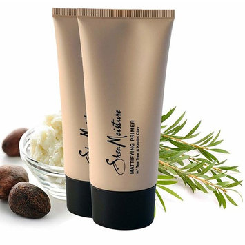 SheaMoisture Mattifying Primer - Matte Face Primer Hydrates and Balances Skin - Made with Organic Shea Butter, Tea Tree and Kaolin Clay (Good for oily, acne prone or sensitive skin) (2 Pack (3.4oz))