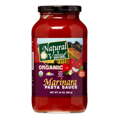 Natural Value Organic Pasta Sauce, Traditional Marinara, 24 Oz