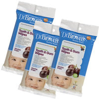 Dr. Brown's Tooth and Gum Wipes, 30 Ct, 3 Pack