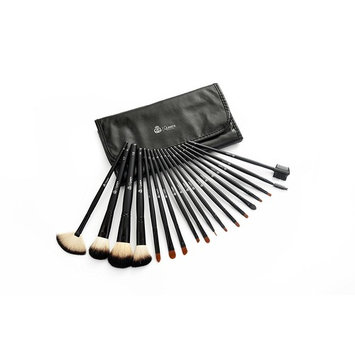 Queen's Grace 18-Piece Professional Cosmetic Brush Set – Includes Organizer Travel Clutch w/Magnetic Closure