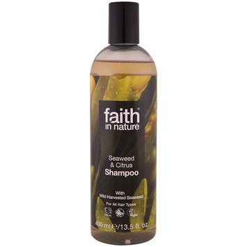 Faith in Nature, Shampoo, For All Hair Types, Seaweed & Citrus, 13.5 fl. oz (400 ml) [Scent : Seaweed & Citrus]