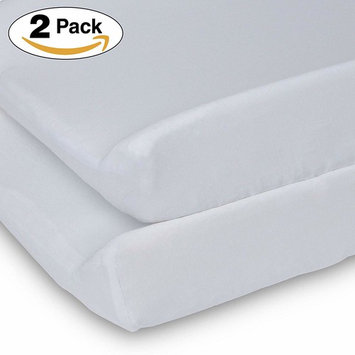 Delta Children Changing Pad Covers – 2 Pack   Solid Color   100% Jersey Knit Cotton   Fits Standard Changing Pads, White