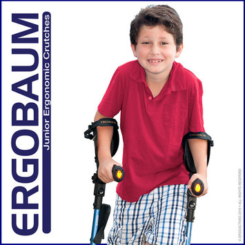 Ergobaum 3rd Generation Junior Shock Absorber Crutches (Users 3'9'' to 5'- 1 Pair) BLACK