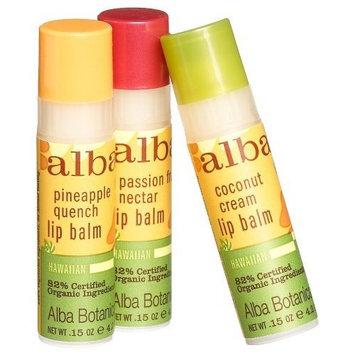 Alba Botanica Nourishing Coconut Cream Hawaiian Lip Balm, 0.15 Ounce Tubes (Pack of 6)