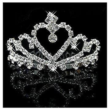 UDORA Kids Girls Crystal Tiara Crowns Hair Jewelry Rhinestone Princess Headband