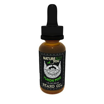 NATUREALLY YOU© - Beard Oil - Yukon Pine Scent - (1 oz) - Moisturize Skin, Stimulate Growth, Make Hair Softer, Smooth, No Left Over Residue, Eliminate Itchy Skin, Treat Split Ends