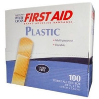 3/4 X 3 Inch, American® White Cross First Aid Plastic Adhesive Bandages 400 Count