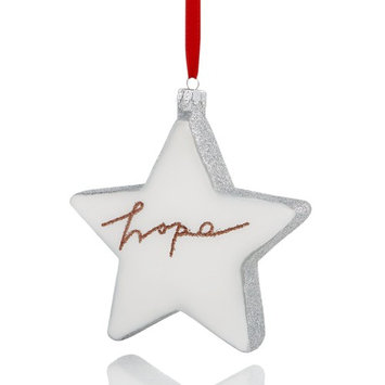 Glass Star with Glittered ''Hope'' Ornament, Created for Macy's