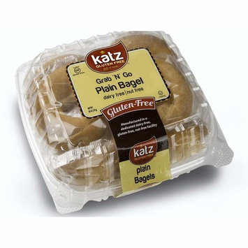 Katz Gluten Free Individually Wrapped GRAB N' GO Plain Bagels   Dairy, Nut and Gluten Free   Kosher (1 Pack of 8 Bagels, 26 Ounce)
