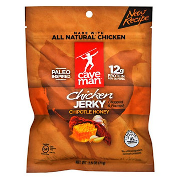 Caveman Foods Chicken Jerky, Chipotle Honey, 2.5 Ounce