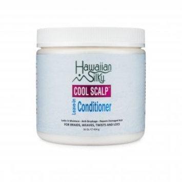 Hawaiian Silky Cool Scalp Leave-In Conditioner Cream, 16 fl oz - Locks in Moisture - Anti-Breakage - Repairs Dry & Damaged Hair