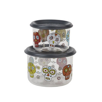Sugarbooger Good Lunch Snack Containers Small Set-of-Two, Birds & Butterflies