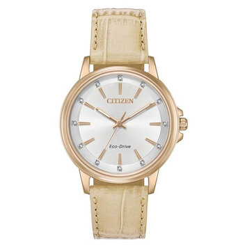 Citizen Eco-Drive Women's Chandler Crystal Leather Watch - FE7033-08A