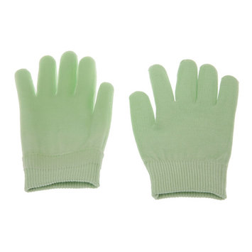 Gel-Lined Moisturizing Spa Lotion Gloves - Feather Yarn - Keep Hands Soft - Gloves, Green