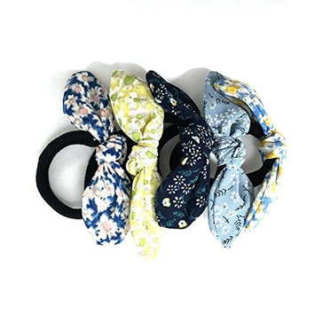 5pcs Stylish Stretch of Comfortable Elastic Flower Wire Ribbon Hair Ties