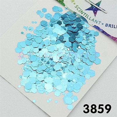 3934 Sky Blue Series Nail Body Eye Shadow Craft Iridescent Cosmetic