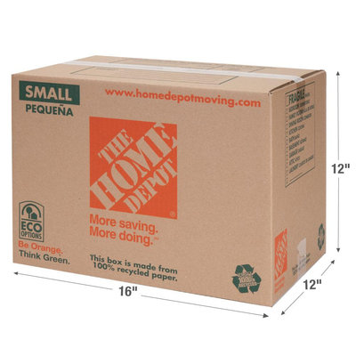 The Home Depot Boxes & Cartons 16 in. x 12 in. x 12 in. 65 lb. Small Box 1001004